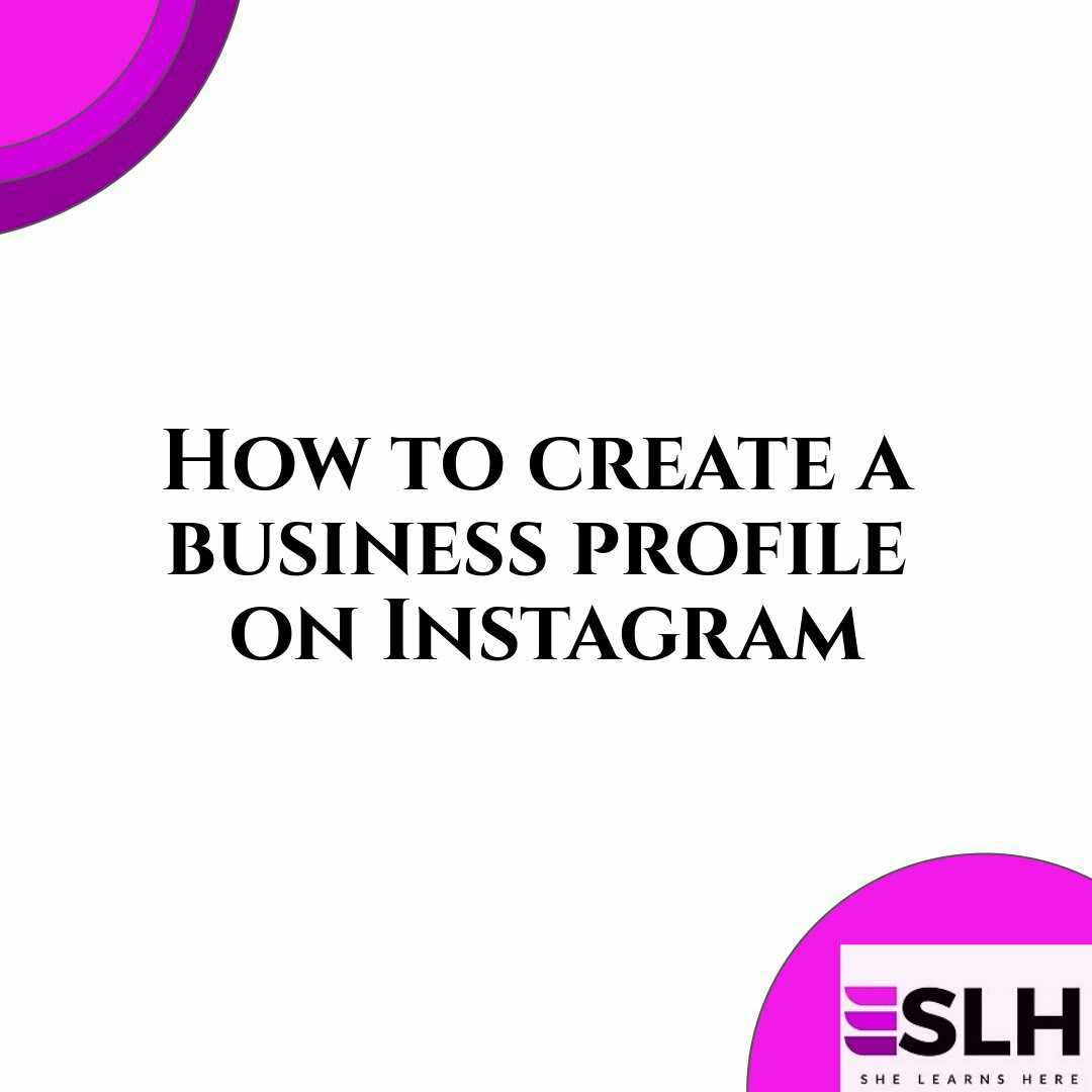 business profile for instagram